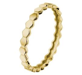 Gouden ring zeshoekjes