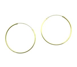 Vergulde oorringen 40 mm - 60 mm