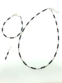 Zilveren armband schijfjes oxi