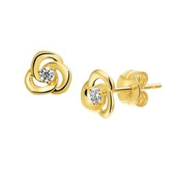 Gouden oorknopjes roos