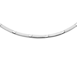 Collier poli/mat 3,5 mm 45 cm