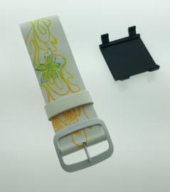 STAMPS-bandje wit met versiering