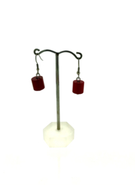MOOI oorhangers cilinder rood