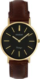 OOZOO vintage bruin / goud 32 mm