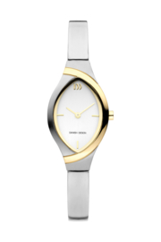 Danish Design horloge zilver / goud 22 mm