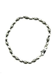 Zilveren armband met ovaaltjes