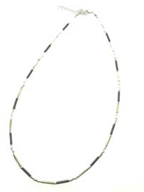 Zilveren collier staafjes oxi