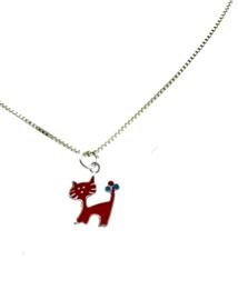Kinder collier rode kat