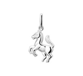 Zilveren kettinghanger paard