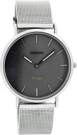 OOZOO horloge grijs / zilver 36 MM