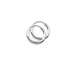 Zilveren dikke oorringen 15 mm