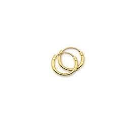 Gouden oorringetjes 11 mm