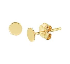 Gouden oorknopjes rondje