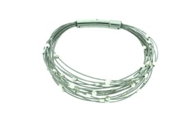 Zilveren armband met bolletjes