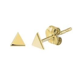 Gouden  oorknopjes driehoek