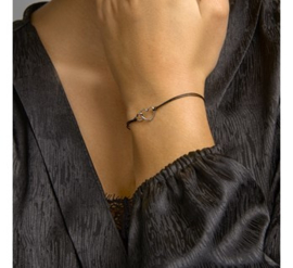 Armband katoen hartjes 20 cm
