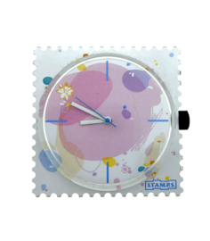 STAMPS-horloge my bubbles