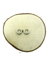 Edelstalen klapcreolen zilver 13 mm