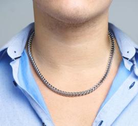Stalen collier 6 mm 55 cm