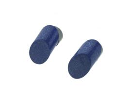 Oorstekers kobalt  blauw ovaal schuin