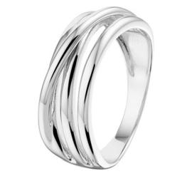 Zilveren ring abstract