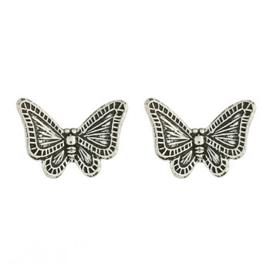 zilveren oorknopjes: vlinder