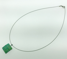 Titanium collier vierkant groen