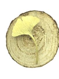 Ginkgo broche goudkleur klein