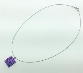 Titanium collier vierkant paars