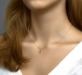 uitgebreide vergulde set:collier, armband en oorbellen schelp