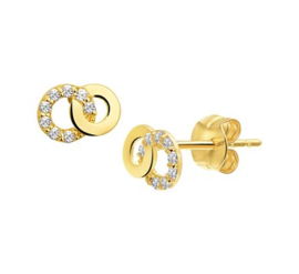 Gouden oorknopjes twee cirkels