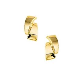 Gouden oorknopjes kronkel