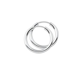 Zilveren dikke oorringen 20 mm