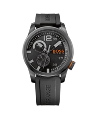 Hugo Boss Orange siliconen zwart 44 mm