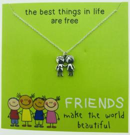 Zilveren geschenk FRIENDS