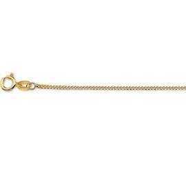 Gouden lengteketting gourmet 42 cm