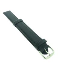 Horlogebandje 16 mm zwart