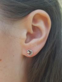 Zilveren oorstekers maan met ster