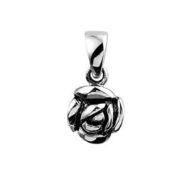 Zilveren kettinghanger oxi roos