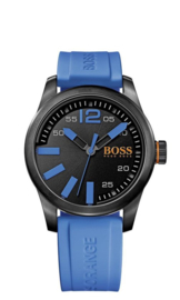 Hugo Boss Orange siliconen blauw 44 mm