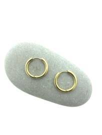 Edelstalen klapcreolen goud 19 mm