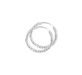 Zilveren oorringen gedraaid 19 mm
