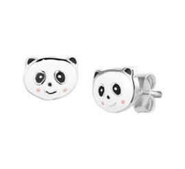 Zilveren oorstekers panda