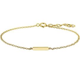 Goud op zilveren armband staaf