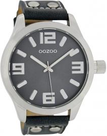 OOZOO horloge donkerblauw 46 MM