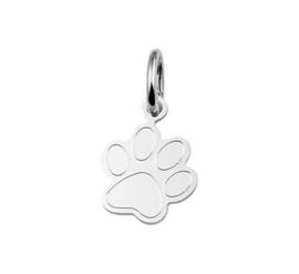 Zilveren kettinghanger hondenpoot