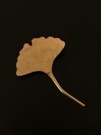 Ginkgo broche klein goudkleur