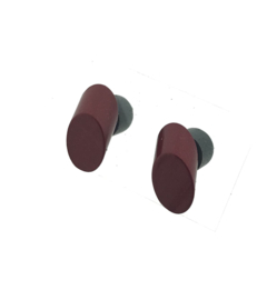 Oorstekers cilinder rood/bruin