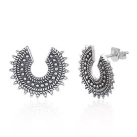 zilveren oorknopjes: bali style