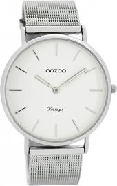 OOZOO horloge wit / zilver 40 MM